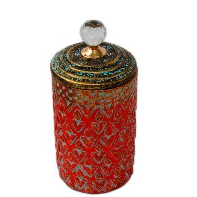 Potiche Decorativo Vermelho 30cm Nataluz