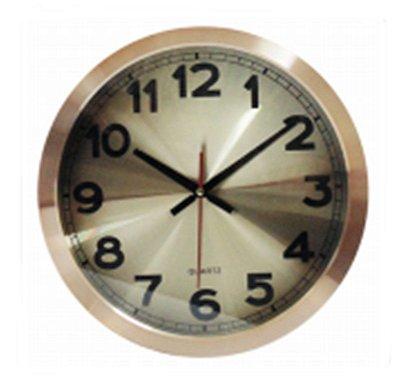 Relógio de Parede Metálico Cobre 35cm Nataluz