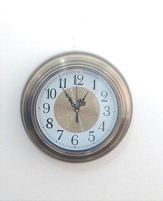 Relógio de Parede Metálico Dourado Nataluz