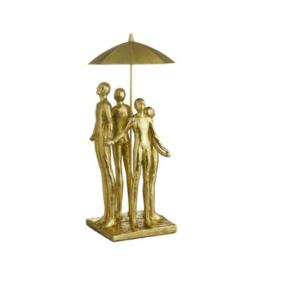 Escultura Decorativa Dourado Rojemac