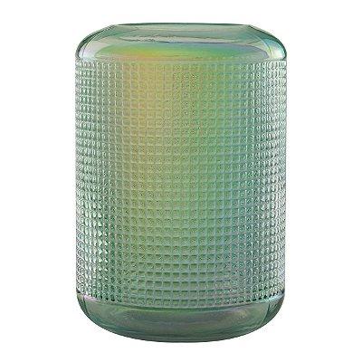 Vaso Decorativo Vidro Verde 22cm Rojemac