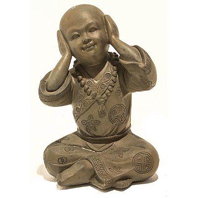 Escultura Monge Não Escuto City