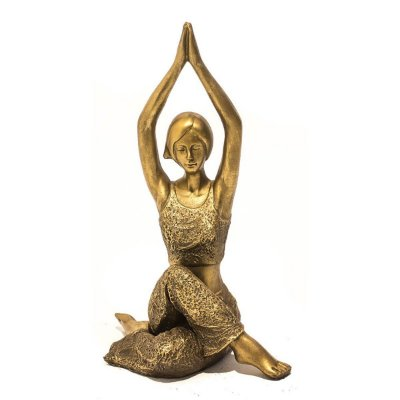 Escultura Yoga Dourado City
