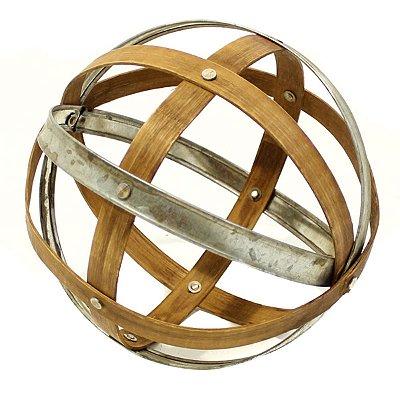 Esfera Ornamental Bambu e Metal 19cm City