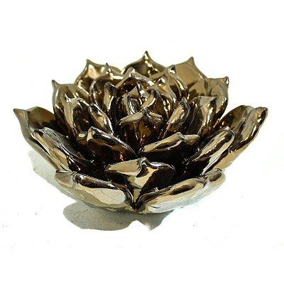 Flor Decorativa Bronze City