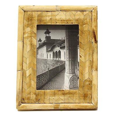 Porta Retrato Osso Bege City