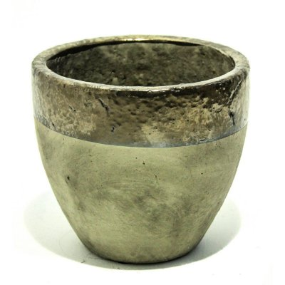 Vaso Cerâmica Bege e Bronze 17cm City