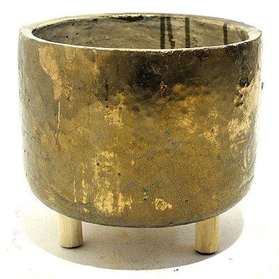 Vaso Cerâmica Bronze 12cm City
