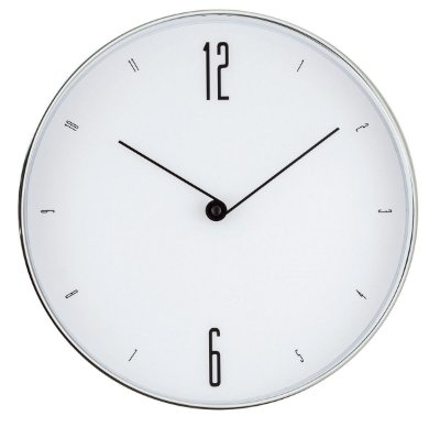 Relógio de Parede Prata 30cm Mart