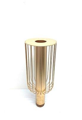Vaso Aramado Alto Dourado Jean Carlo Design