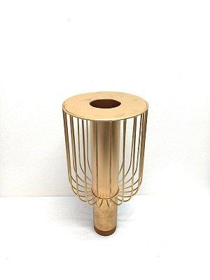 Vaso Aramado Baixo Dourado Jean Carlo Design