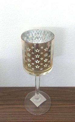 Castiçal Vidro Estrela