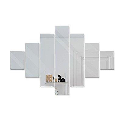 Espelho Decorativo feito em Acrílico Espelhado (45x30cm) - Tiras