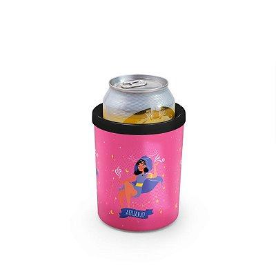 Porta Latas 350ml SIGNOS (rosa) - Aquários