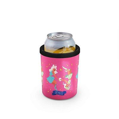Porta Latas 350ml SIGNOS (rosa) - Gêmeos