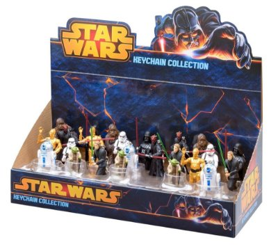Display Chaveiros Star Wars 24 Peças