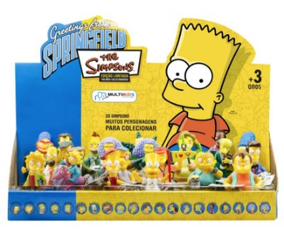 Display Bonecos Simpsons Novos Personagens 24 Peças