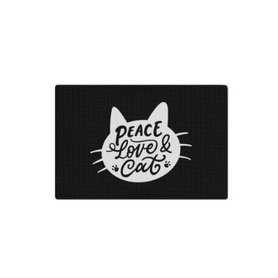 Tapete PET - Peace Love and Cat