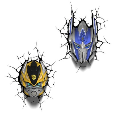 Conjunto Luminárias 3D Light FX Transformers Bumble Bee/Optimus Prime