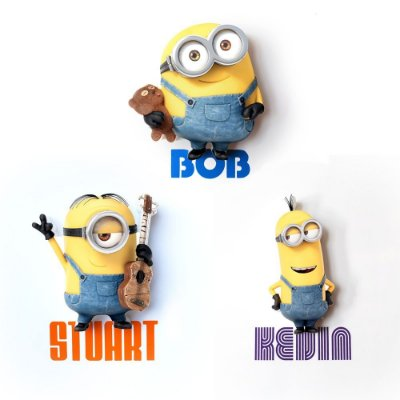 Mix Mini Luminárias 3D Light FX Minions Bob/Stuart/Kevin
