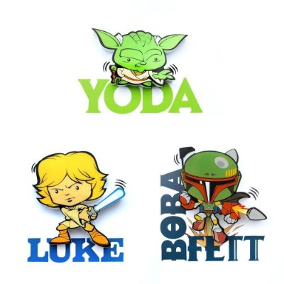 Mix Mini Luminárias 3D Light FX Star Wars Yoda/Luke/Boba