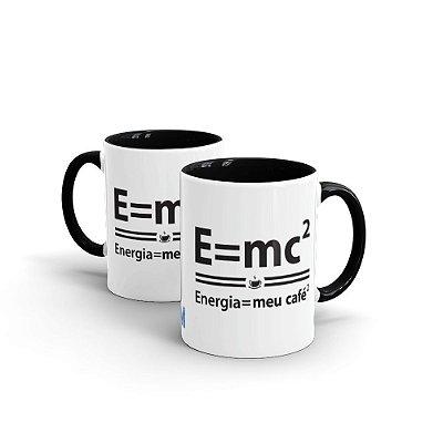 Caneca de Cerâmica MANUAL DO MUNDO - Energia = meu café (preta)