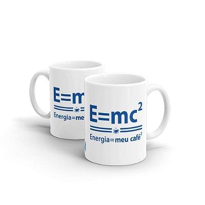 Caneca de Cerâmica MANUAL DO MUNDO - Energia = meu café (branca)