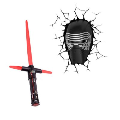 Conjunto Luminárias 3D Light FX + Uncle Milton Kylo Ren