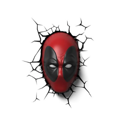 Luminária 3D Light FX Deadpool