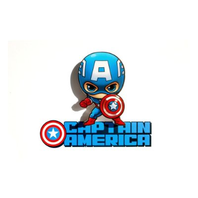 Mini Luminária 3D Light FX Marvel Capitão América