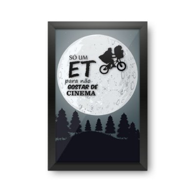 Quadro Porta Ingressos de Cinema ET