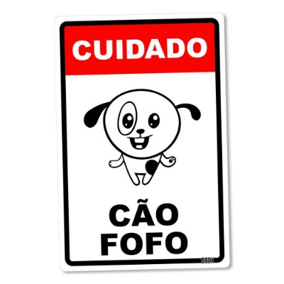 Placa Decorativa 24x16 - CÃO FOFO