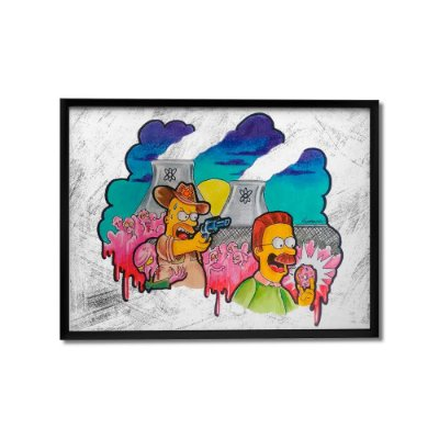 Quadro Decorativo The Walking Simpsons By Homero Ribeiro - Beek