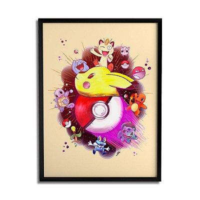 Quadro Decorativo Pokemon By Lua Lins - Beek