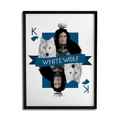 Quadro Decorativo White Wolf By Cleyton Braga - Beek