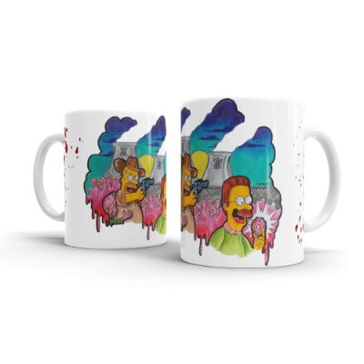 Caneca Cerâmica THE WALKING SIMPSONS - By Homero Ribeiro