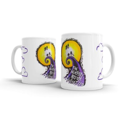 Caneca Cerâmica THE NIGHTMARE BEFORE ADVENTURE - By Homero Ribeiro