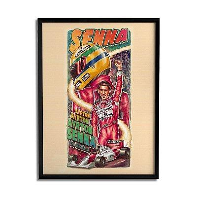 Quadro Decorativo Ayrton Senna By Renato Cunha - Beek