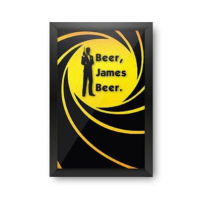 Quadro Porta Tampinha de Cerveja - JAMES BEER