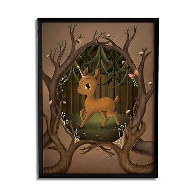 Quadro Decorativo Cervo By Fe Sponchi - Beek