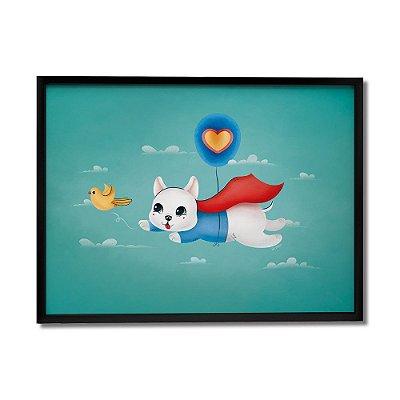 Quadro Decorativo Cão Super By Fe Sponchi - Beek