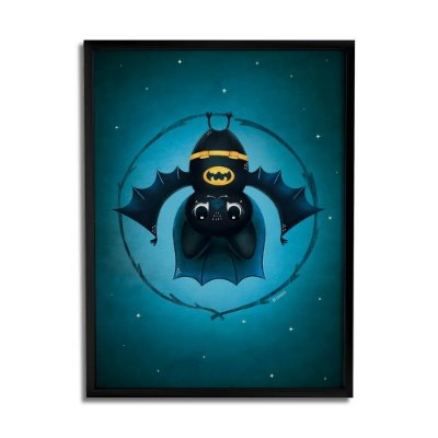 Quadro Decorativo Morcego By Fe Sponchi - Beek