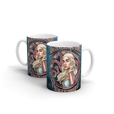 Caneca Personalizada Cerâmica DAENERYS By Renato Cunha - Beek
