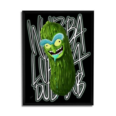 Quadro Decorativo Pickle Rick By Samuel Sajo - Beek