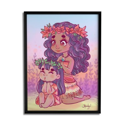 Quadro Decorativo Moana By Dharilya Sales - Beek