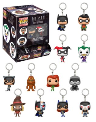 Caixa Surpresa Chaveiros Funko Pop! Dc Comics Batman The Animat 24un.