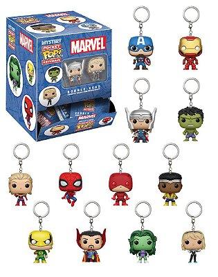Caixa Surpresa Chaveiros Funko Pop! Marvel 24un.