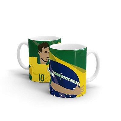 Caneca Personalizada COPA RUSSIA 2018 Neymar Bandeira - Beek