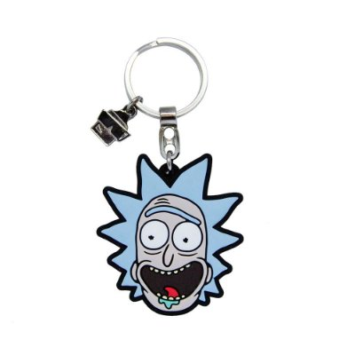 Chaveiro de Borracha Rick RICK AND MORTY Oficial - Beek (Caixa)