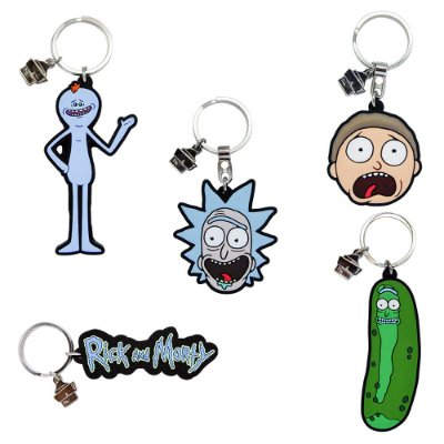 Chaveiro de Borracha Sortidos RICK AND MORTY Oficial - Beek (Caixa)
